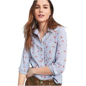 Maeve by Anthropologie Embroidered Floral Shirt 2